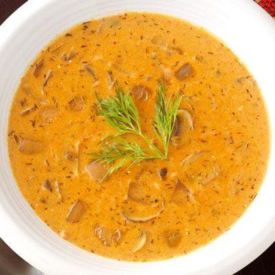 Гъбена супа - шкембе от три вида гъби