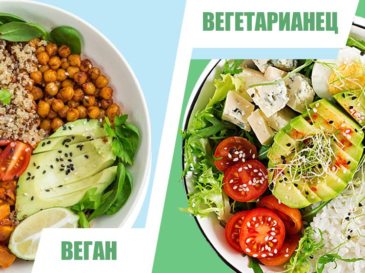 Каква е разликата между Веган, Вегетарианец и Пескатарианец