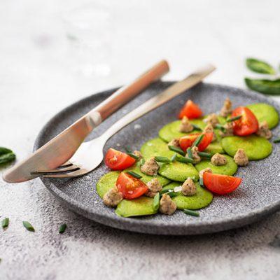 Рецепта за палачинки - спаначени с деликатес от гъби